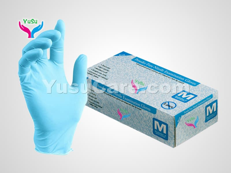 Disposable Blue Nitrile Gloves with box Yusu Care