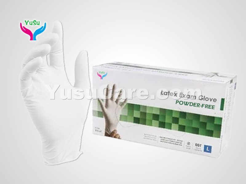 Disposable White Latex Gloves Yusu Care