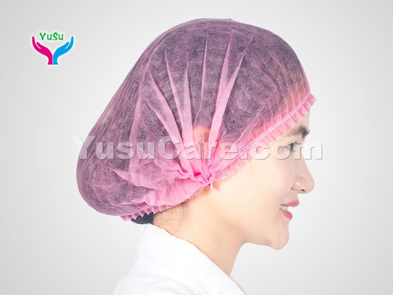 Pink Bouffant Cap Yusu Care
