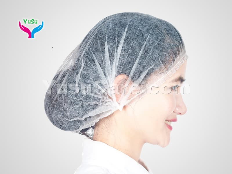 White Bouffant Cap Yusu Care