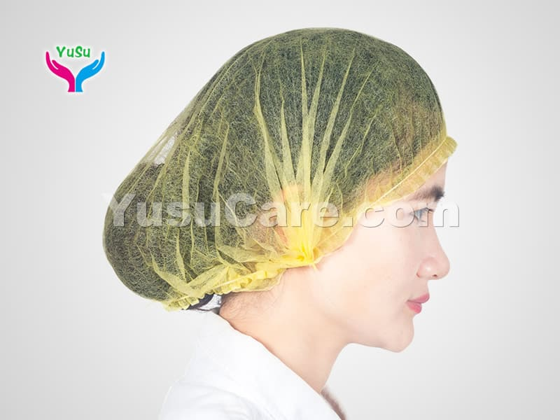 Yellow Bouffant Cap Yusu Care